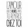 L'amour dure 3 heures..